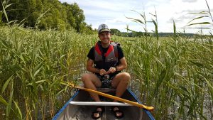 Kanot på Oppmannasjön