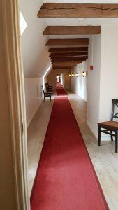 Korridoren med rummen på slottet